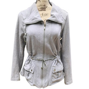 ♛5/$25♛ Zip Up Peplum Jacket w/ Waist Ties M L